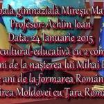 Activitate cultural-educativă 24 Ianuarie 2015 Mireșu Mare