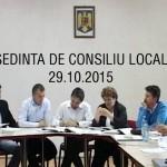 Ședință de consiliu local 29.10.2015