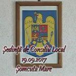 Ședință de consiliu local 19.09.2017